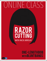 Razor Cutting with Nick Arrojo: One-Length Bob with Blunt Bangs